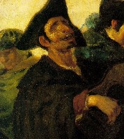 Goya: blind guitarist (detail)